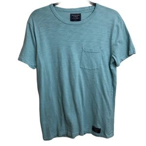 Abercrombie & Fitch Baby Turquoise Blue T Shirt